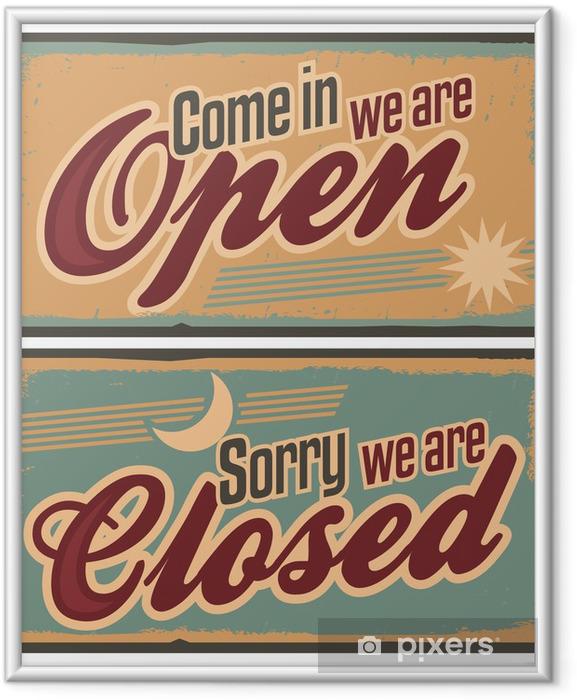 Poster en cadre Panneaux métalliques rétro fixés pour magasin ou boutique - Thèmes