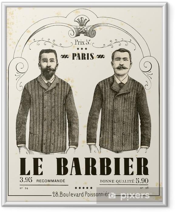 Poster en cadre Le salon de coiffure - Moustache