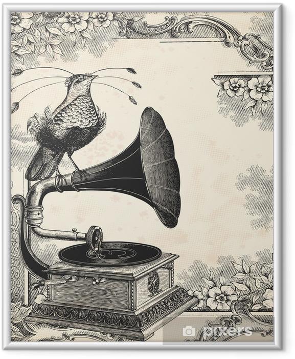 Poster en cadre La musique des oiseaux - Textures
