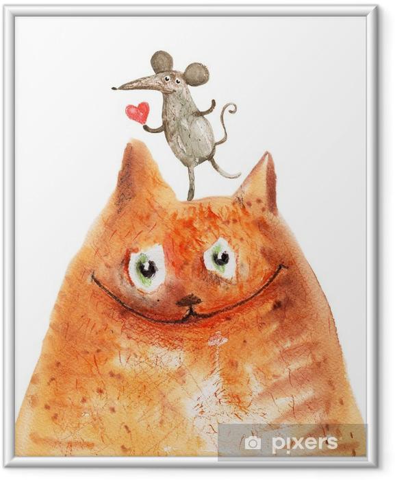 Plakát v rámu Kočka s Mause - Emoce a pocity