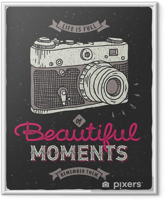 Plakat w ramie Vintage aparat fotograficzny - Hobby i rozrywka