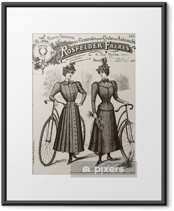 Póster com Moldura Cycling suit - Na Estrada
