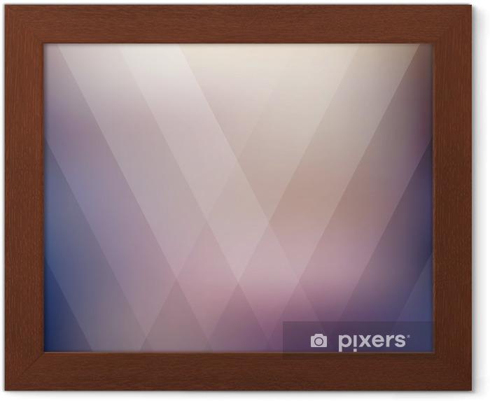 Plakat w ramie Streszczenie geometryczny fioletowy wielokątne tła. ilustracji wektorowych - Zasoby graficzne