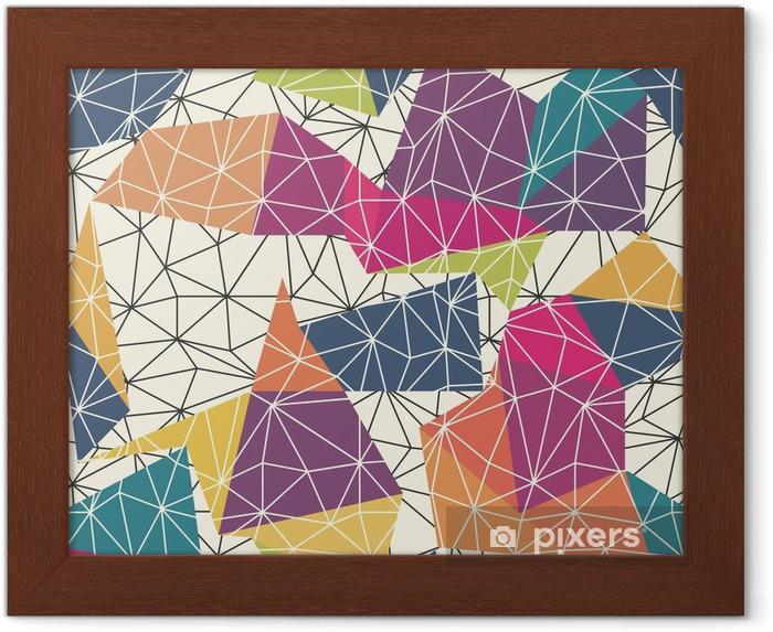 Gerahmtes Poster Drahtgitter abstrakten Oberfläche Seamless Pattern - Grafische Elemente