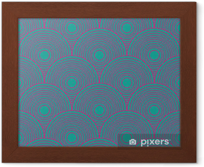 Vintage abstract seamless pattern Framed Poster - Graphic Resources