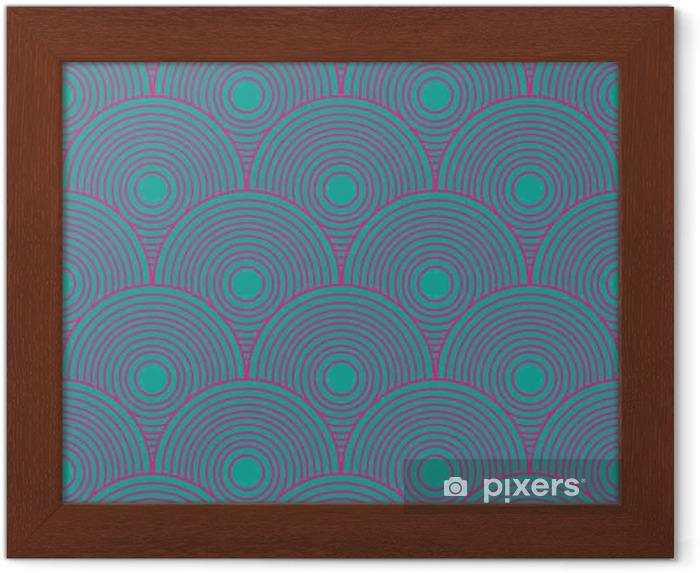 Ingelijste Poster Vintage abstracte naadloze patroon - Grafische Bronnen
