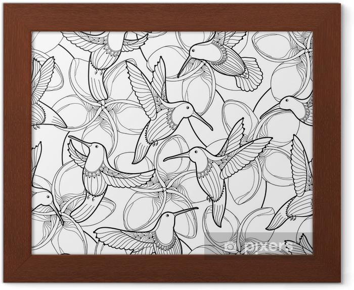 Poster Com Moldura Padrao Vetorial Sem Costura Com Flor Plumeria E