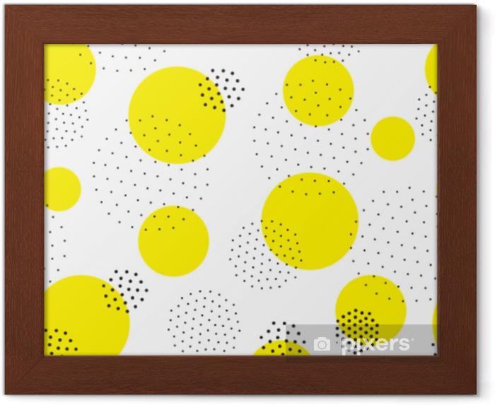 Ingelijste Poster Geometrisch naadloos patroon - Grafische Bronnen