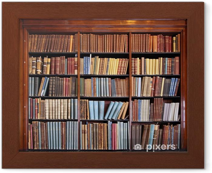 Poster en cadre Vieille étagère bibliothèque - Bibliothèque