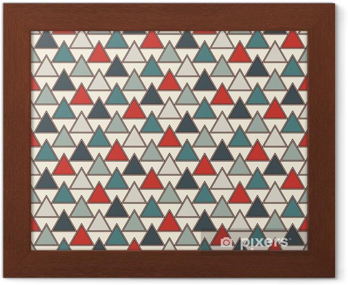 Lámina Enmarcada Fondo de triángulos repetidos. simple fondo de pantalla abstracto con figuras geométricas. patrón de superficie sin costuras - Recursos gráficos