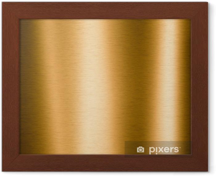 Çerçeveli Poster Arka planlar için yararlı fırçalanmış altın metalik plaka - Hammaddeler