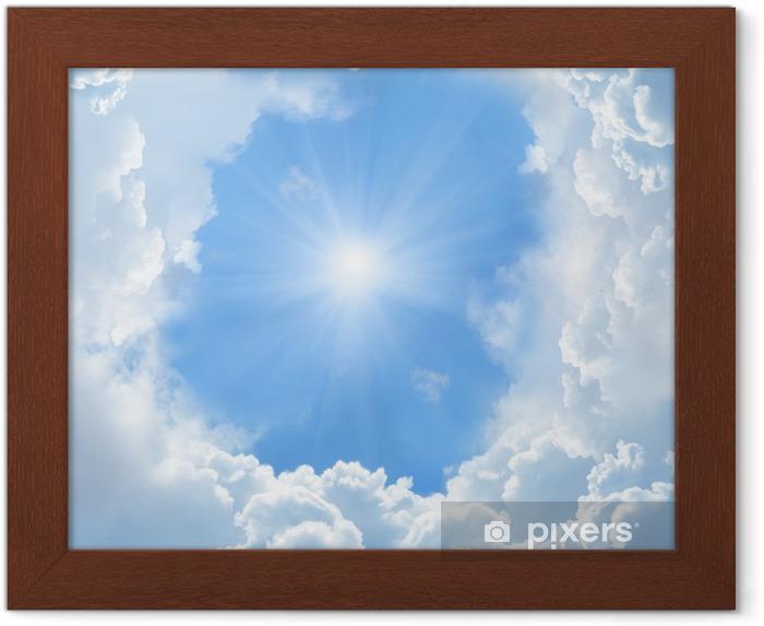 Póster Enmarcado Bellas nubes - Temas