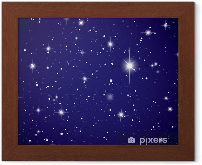 Poster i Ram Rymd vy stjärnhimlen - Universum