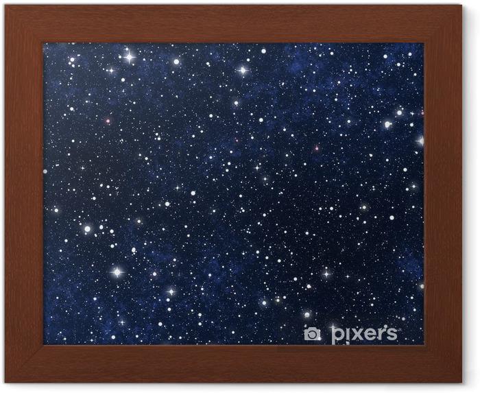 Plakat w ramie Nocne niebo gwiazdy wypełnione - Wszechświat
