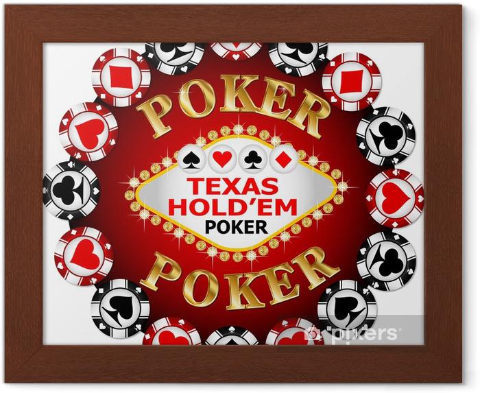 Ingelijste Poster Poker chip - Amusement