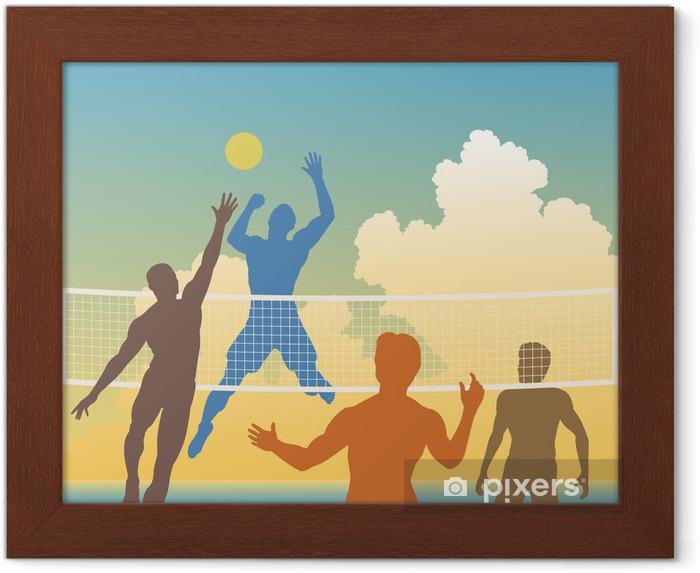 Plakat w ramie Siatkówka - Siatkówka