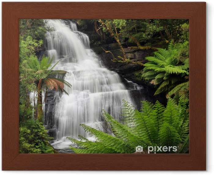 Plakat w ramie Wodospad tropikalnych - Tematy