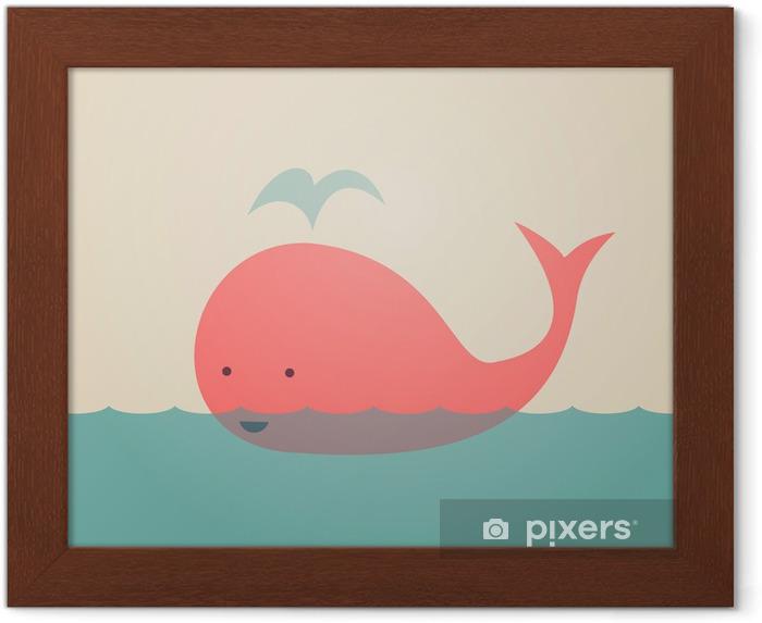 Poster in Cornice Whale Carino - Temi