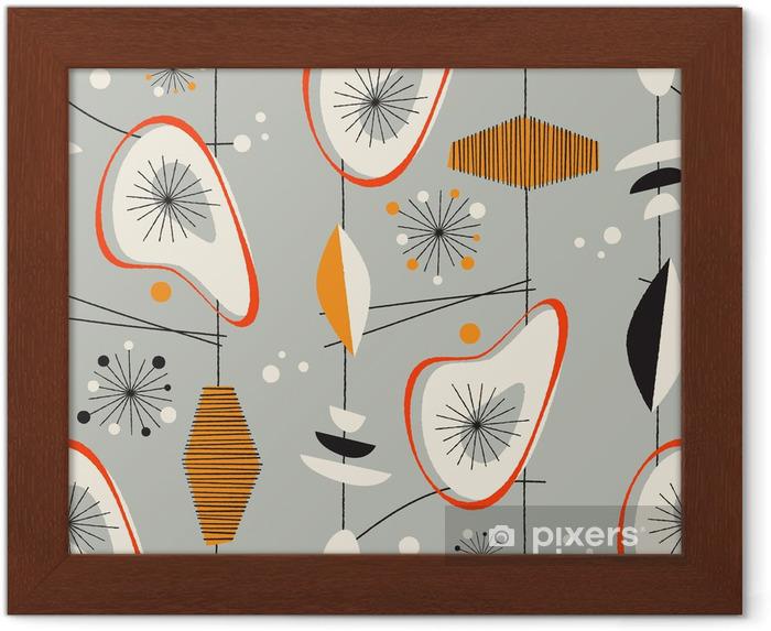 Ingelijste Poster Naadloze vintage patroon - Vector. - Winkels