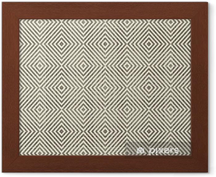 Gerahmtes Bild Abstrakte geometrische retro nahtlose Hintergrund - Hintergründe