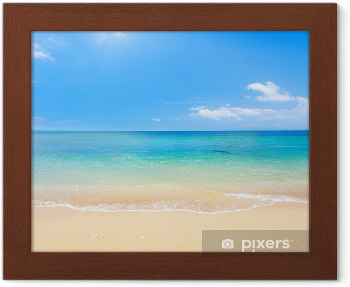 Póster com Moldura beach and tropical sea - Praia e trópicos
