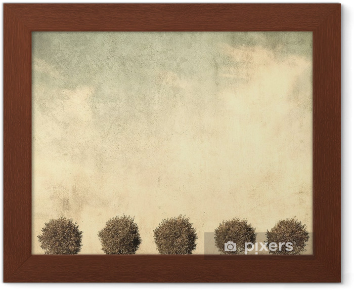 Plakat w ramie Grunge obraz drzewa - Style