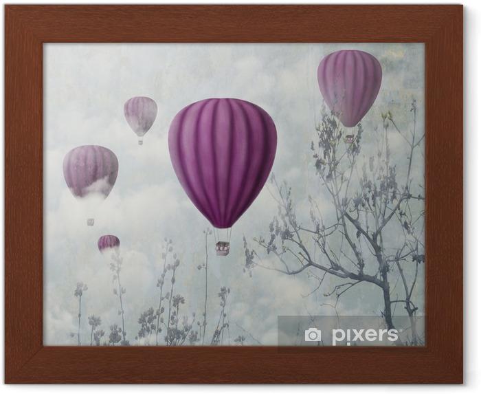 Plakat w ramie Różowe balony - iStaging