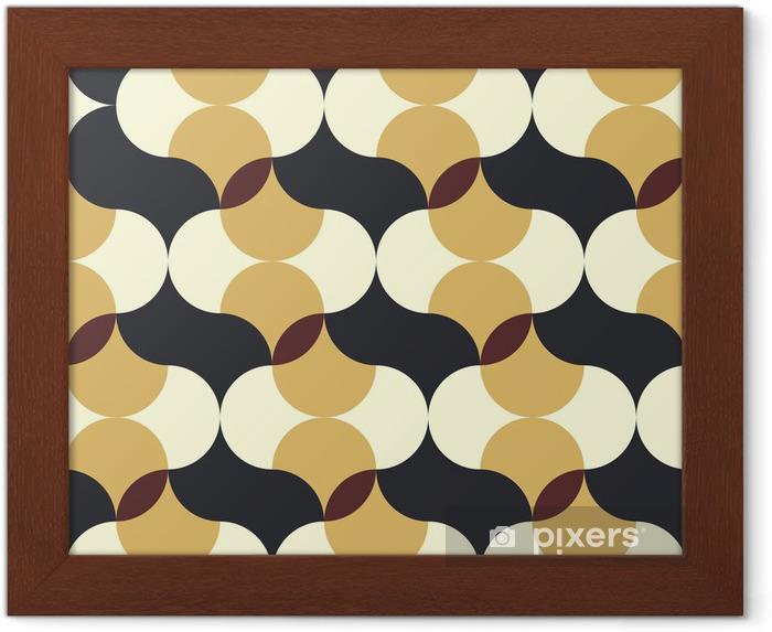 Gerahmtes Poster Abstrakt retro geometrische Muster - Hintergründe