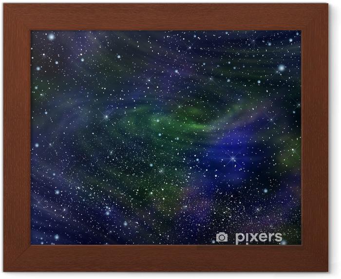 Poster en cadre L'image de la galaxie de l'espace, illustration - Thèmes
