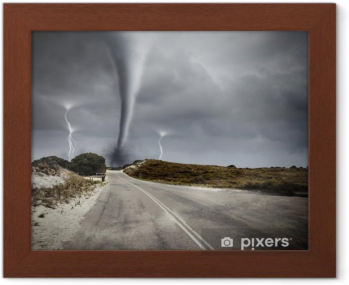 Póster Enmarcado Tornado en la carretera - Temas