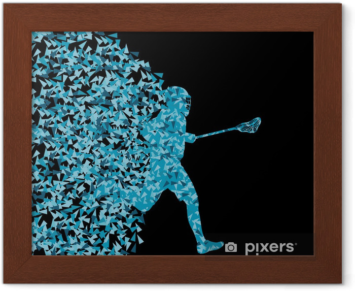 Poster en cadre Silhouette des joueurs de lacrosse de sport actifs fond illustratio - Thèmes
