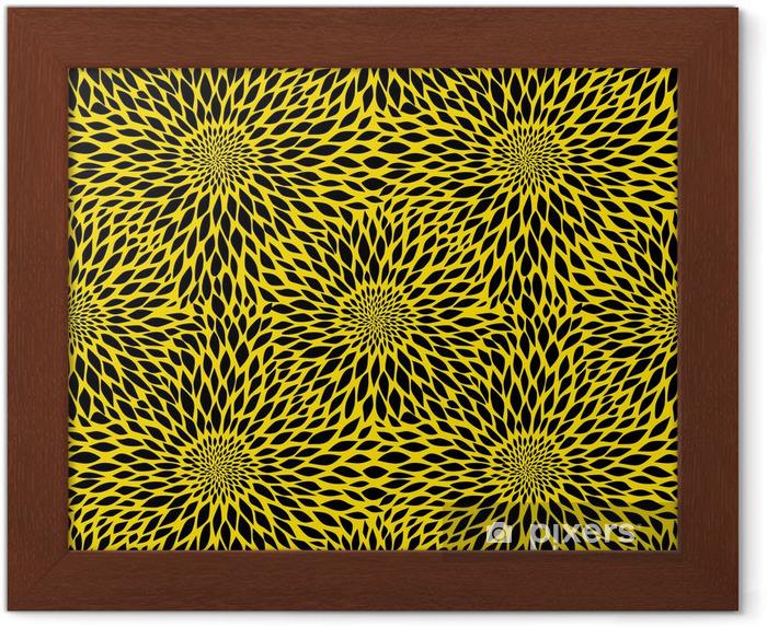 Plakat w ramie Słonecznik szwu - Tekstury