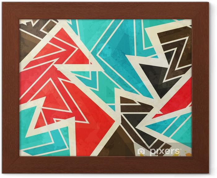 Obrazek w ramie Młodzieży geometryczne szwu z mocą grunge - Zasoby graficzne