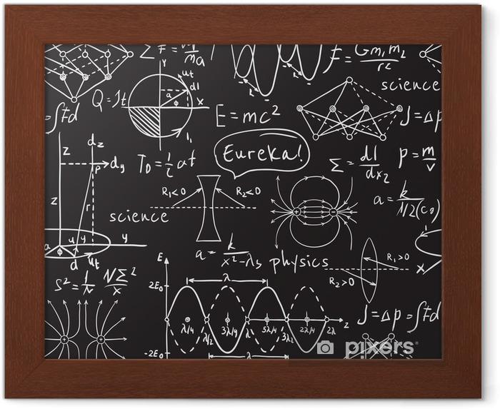 Welp Gerahmtes Poster Physikalische Formeln, Grafiken und KX-94
