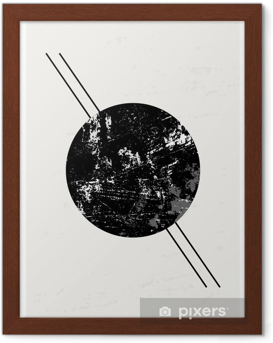 Innrammet plakat Abstrakt Geometrisk Sammensetning - Grafiske Ressurser