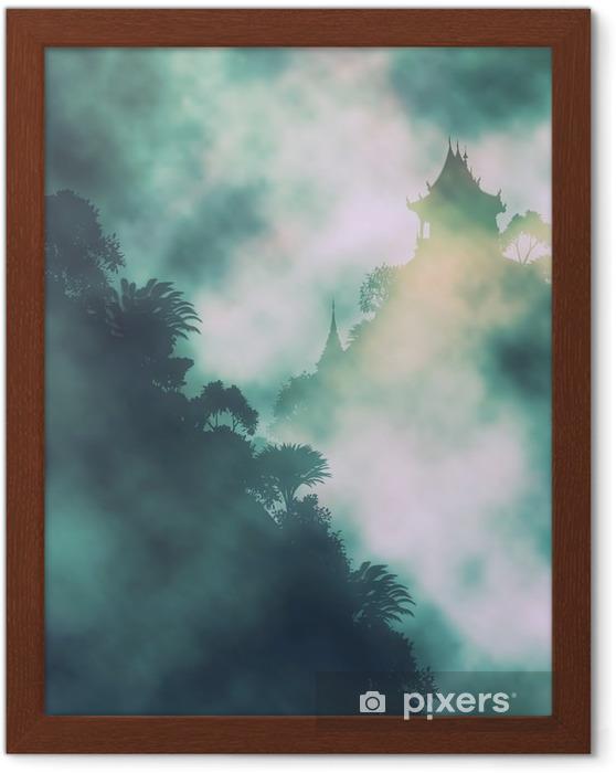 Plakat w ramie Mystic góra świątynny - Krajobrazy