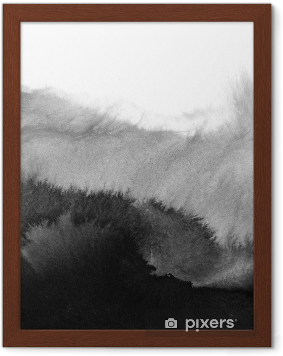 Ingelijste Poster Hi-res aquarel achtergrond - Landschappen