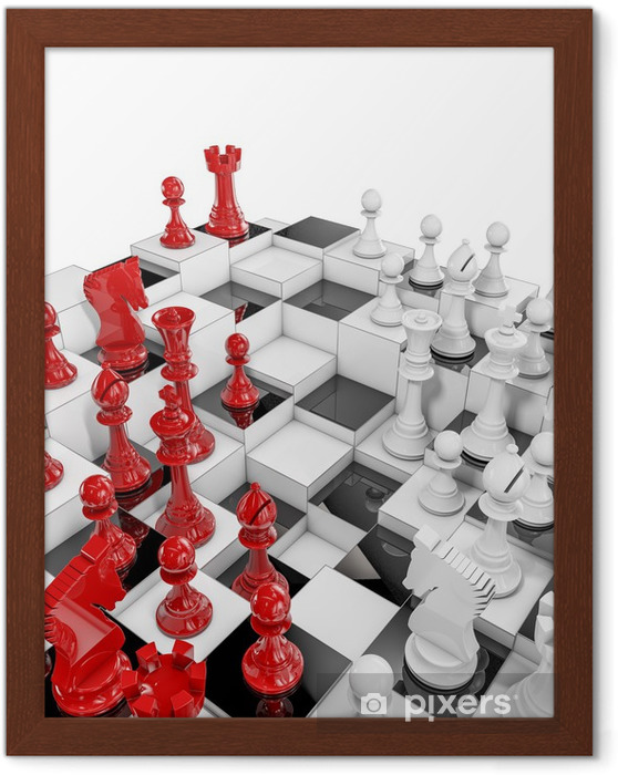 Multilayer chess Framed Poster - Business Concepts