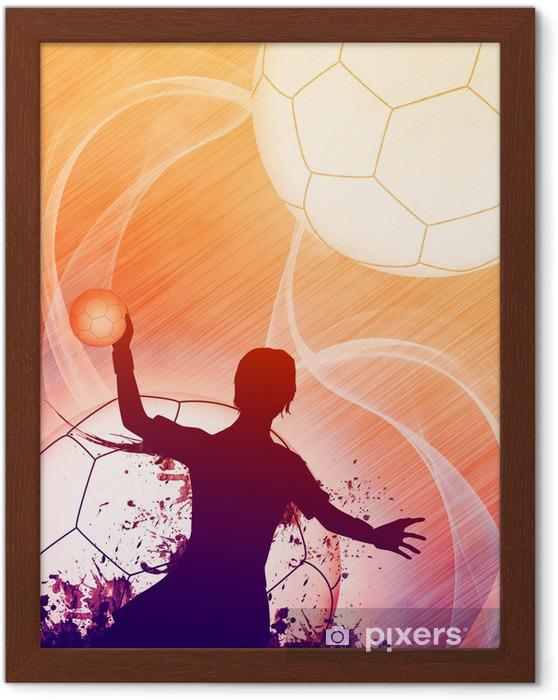 Plakat w ramie Piłka ręczna dziewczyna - Sporty drużynowe