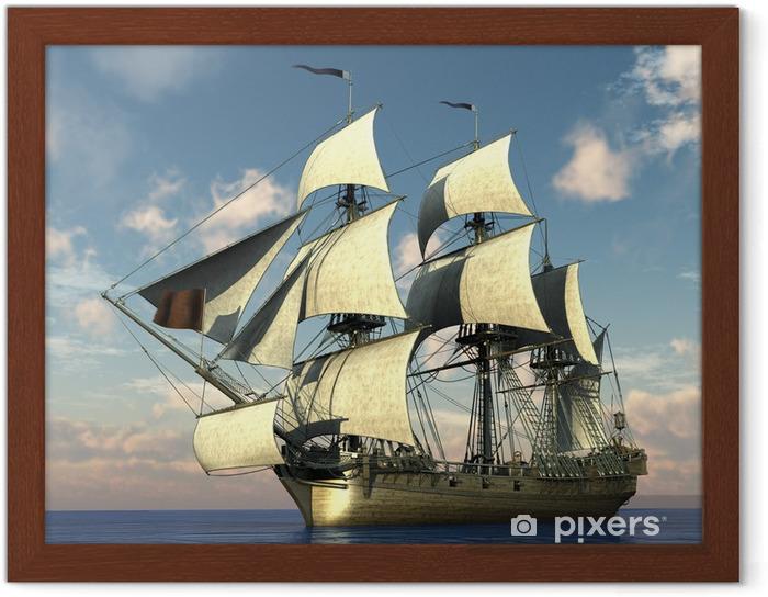 Plakat w ramie Wysyłamy w oceanie - Wolność