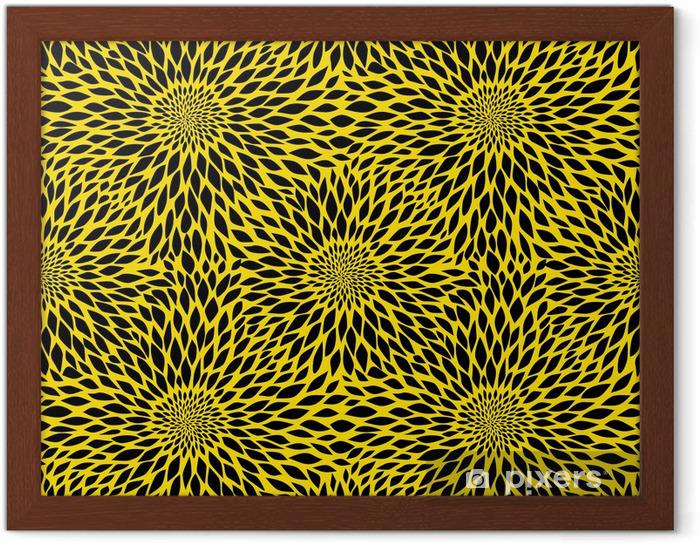 Sunflower seamless pattern Framed Poster - Textures