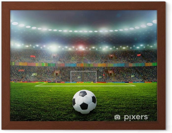 Ingelijste Poster Voetbal - Team sport