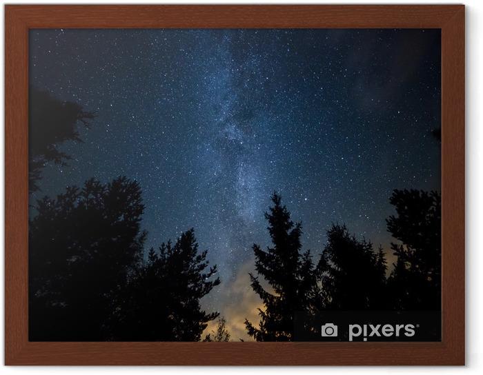 Plakat w ramie Droga Mleczna nad lasem - Tematy