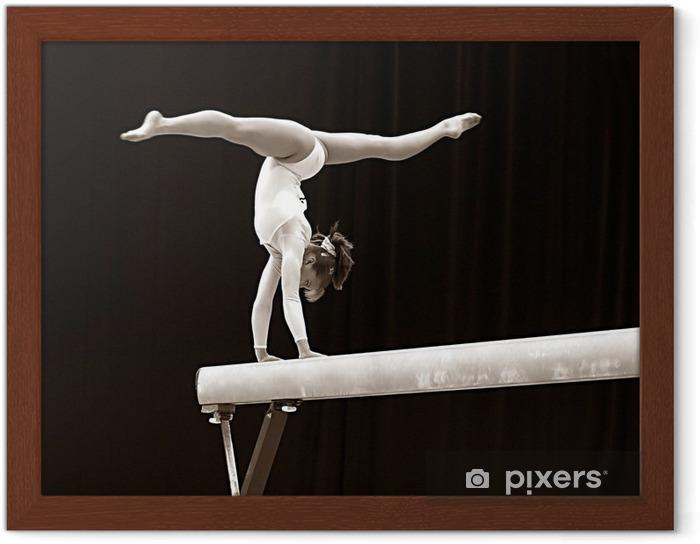 Póster Enmarcado Gimnasta - 2 - Deportes individuales