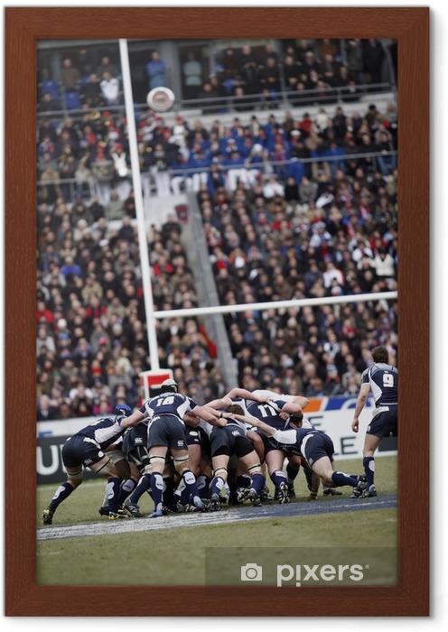 Ingelijste Poster Rugby - Rugby