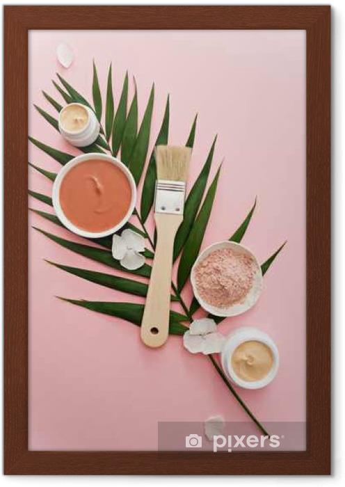 Plakat w ramie Motyw aromaterapia, ręcznie robione kosmetyki. płaskie - Harmonia