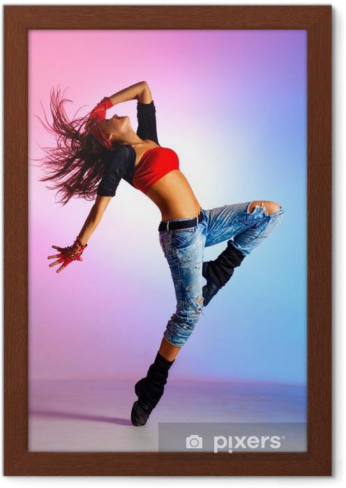 Plakat w ramie Młoda kobieta tancerka - Tematy