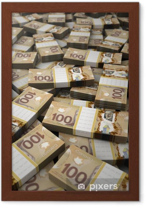 Kanada Doları Yığını çerçeveli Poster Pixers Haydi Dünyanızı
