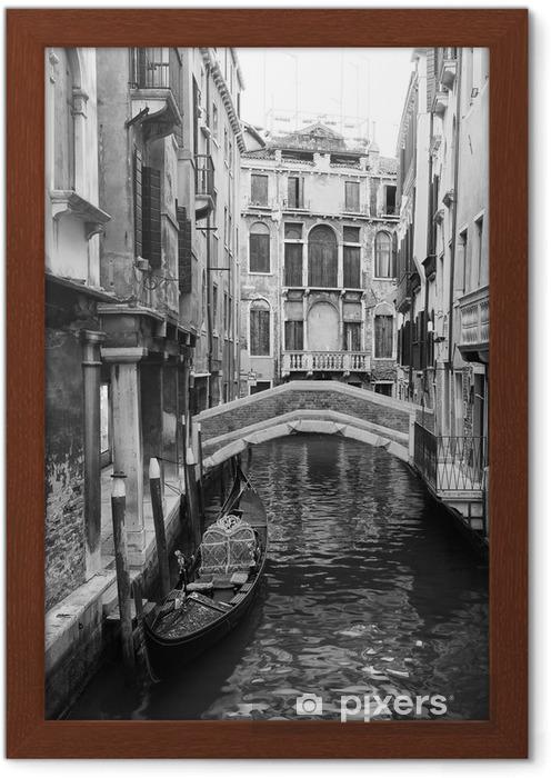 Poster in Cornice Venezia vista in bianco e nero - Stili