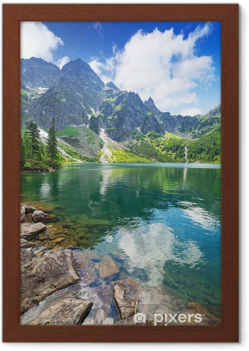 Plakat w ramie Oko jeziora morza w Tatrach, Polska - Tematy
